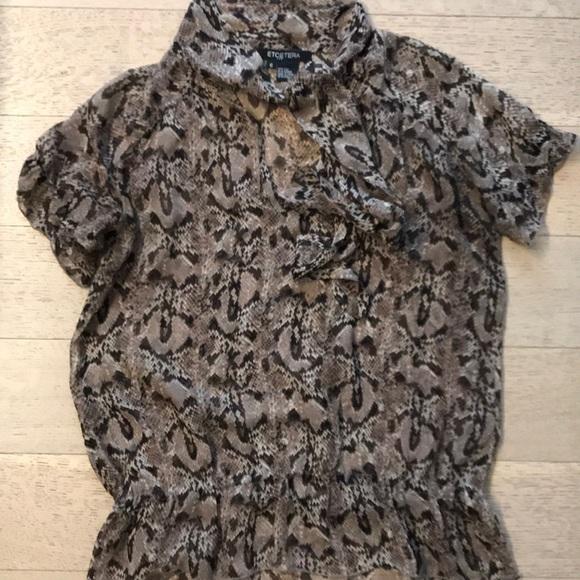 Etcetera Tops - Etcetera python silk blouse